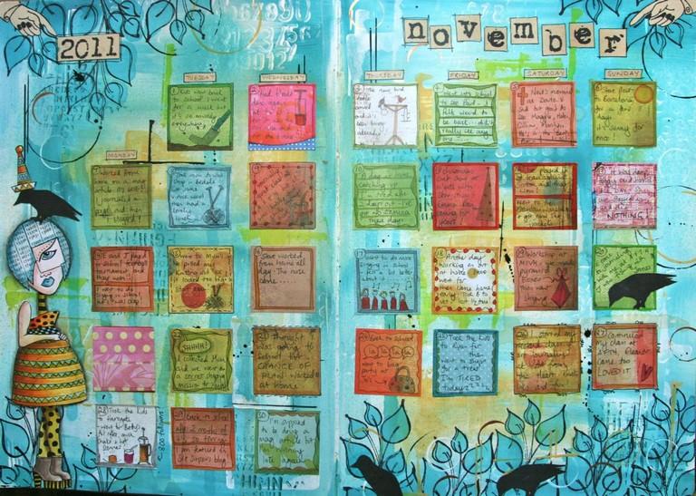 Art Journal Calendar Pages : Art calendar journaling with kate crane