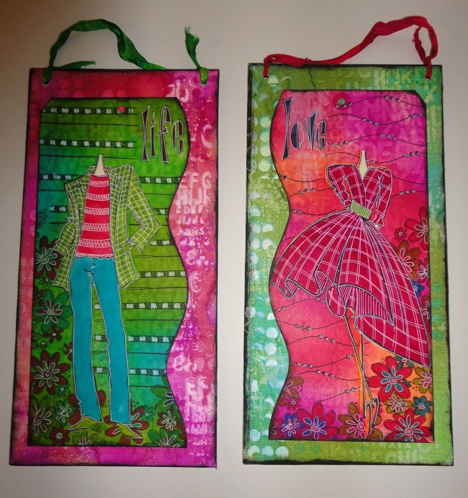 Couture canvas wall hangings by dyan for Wall hangings
